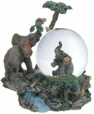 George S. Chen Imports Snow Globe Elephant Collection Desk Figurine Decoration