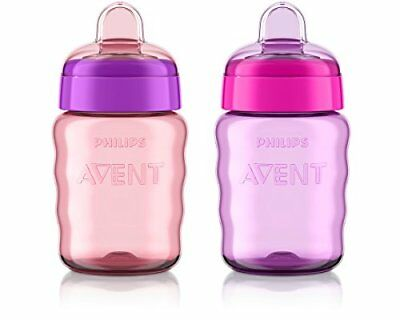 Philips Avent My Easy Sippy Cup, 9 Ounce, Pink/Purple, Stage 2 (colors may