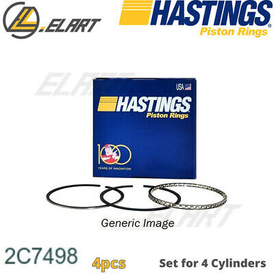 Hastings Piston Rings 2C7498 For SSANGYONG 2.0, D20DT, 86.2  (SET For 1 CYL)