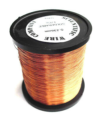 0.50mm - ENAMELLED COPPER WINDING WIRE, TATTOO MACHINE COIL WIRE -500 Gram Spool