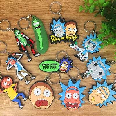 New Rubber Keyring Keychain Double Sides