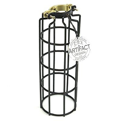 Industrial Vintage Style Metal Wire Cylinder Cage for Pendant Style Lamps ,10