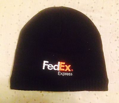 Fedex Express Federal Express Shipping Black Cotton Beanie Hat One Size Fit All