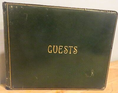 Vintage 1931-1946 Guest Book HEPTOREAN CLUB Somerville Ma. WOMANS CLUB MOVEMENT
