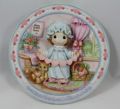 Precious Moments You Have Touched So Many Hearts 3D Sculpted Plate 151114, MIB