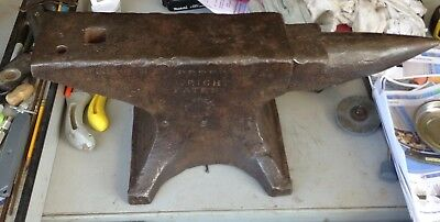 vintage blacksmith anvil Peter Wright 111lbs wrought