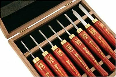 PSI Woodworking LCAN8MD HSS Micro Detailing Anniversary Lathe Chisel Set
