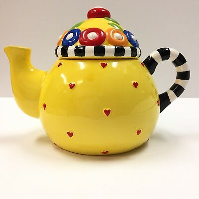 Mary Engelbreit Afternoon Tea Teapot 1995 Sakura Yellow