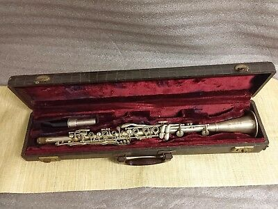 RARE Antique VOCOTONE Clarinet 1920's With Old Case # 5302 - As Is