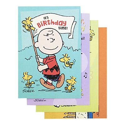 Box Of 12 Birthday Cards Featuring The Peanuts By Dayspring 86067