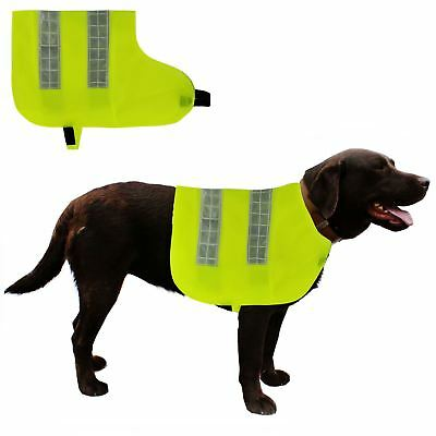Dog High Visibility Jacket Vest Reflective Coats Yellow Hi Vis Viz Fluorescent