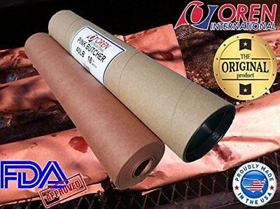 "Pink/Peach Butcher Paper Roll 18"" X 150' in Durable Carry Tube, FDA Approved"