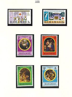 Bahamas 1970 Issues Girl Guides/Red Cross/UPU/Goodwill/Christmas  MLH
