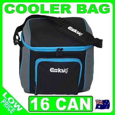 Esky 16 Can Soft Cooler, Insulated Soft Bag Lunch Box Eski Cold picnic work