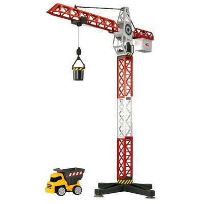 DICKIE TOYS Building Team Set With 67cm Crane and a Freewheel Truck