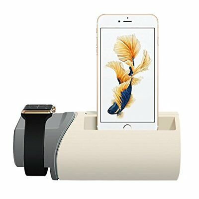 Charging Stand for Apple Watch, Upow 2 in 1 Charging Station Dock for iPhone