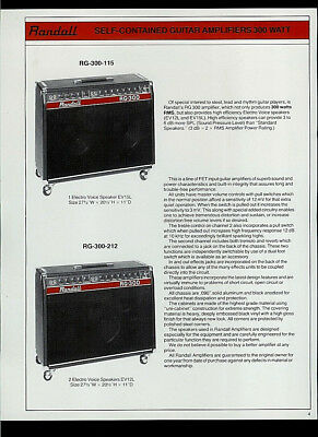 RANDALL R-300/300-PH BASS Amps RB-212-W R-612-S Enclosures Dealer