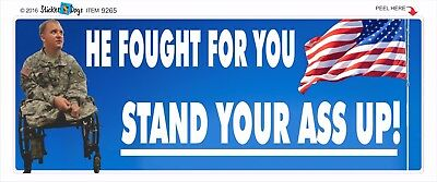 Support Our Military - Stand Up For America - Political Bumper Sticker #9265