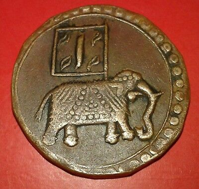 India Mysore State Tipu Sultan (1782- 1799) Double Paisa Copper Coin Very Rare