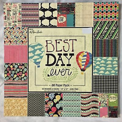 Best Day Ever 12x12 Scrapbooking Paper Pad, Celebrate Life, Hot Air Balloons