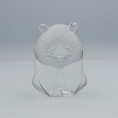 A Mats Jonasson Maleras WWF Panda paperweight Swedish glass