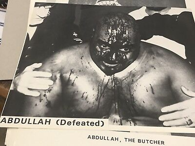 Abdullah The Butcher  Photo Near Mint World Championship Wrestling Australia