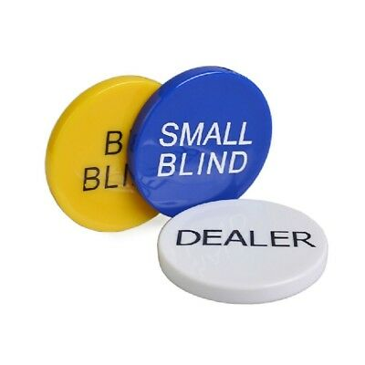 Xmas Gift For Him 3pcs Small Blind, Big Blind and Dealer Poker Buttons