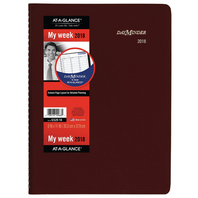 AT-A-GLANCE DayMinder Weekly Appointment Book / Planner, January 2018 - Dec...