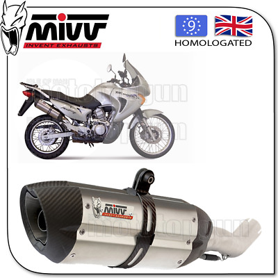 Mivv Approved Exhaust Suono Steel Carbon Cup Honda Xlv 650 Transalp 2002 02