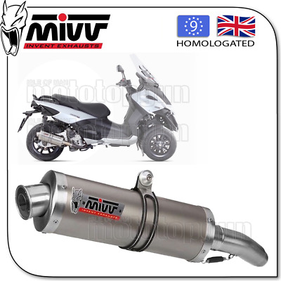 Mivv Approved Exhaust Oval Titanium Gilera Fuoco 500 2010 10 2011 11 2012 12