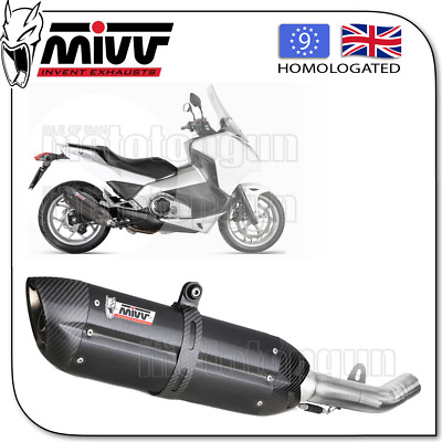 Mivv Approved Exhaust Kat Suono Steel Black Carbon Cup Honda Integra 750 2015 15