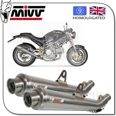 Mivv Approved Exhaust Kat Xcone Steel Ducati Monster 800 2003 03 2004 04 2005 05
