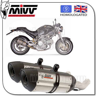 Mivv Approved Exhaust Kat Suono Steel Carbon Cup Ducati Monster 1000 2003 03