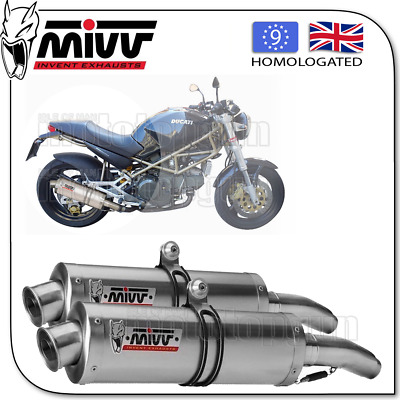 Mivv Approved Silencer Kat Oval Steel Ducati Monster 750 2002 02