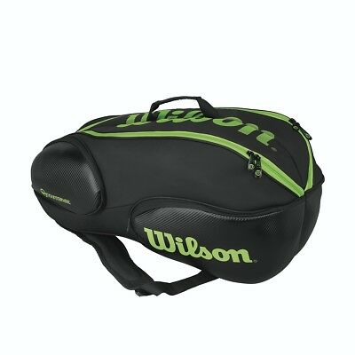 Wilson Vancouver 9 Pack Tennis Racquet Bag Black/Green