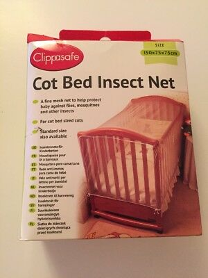 Clippasafe Cot Bed Insect Net (150x75x75cm) New