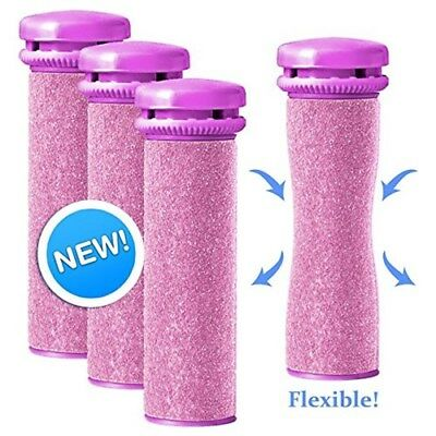 Replacement Rollers for Emjoi Micro-Pedi - Extra Coarse (Pink) - Pack of 4