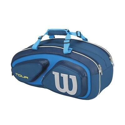 Wilson Tour V 6 Pack Tennis Racquet Bag Blue