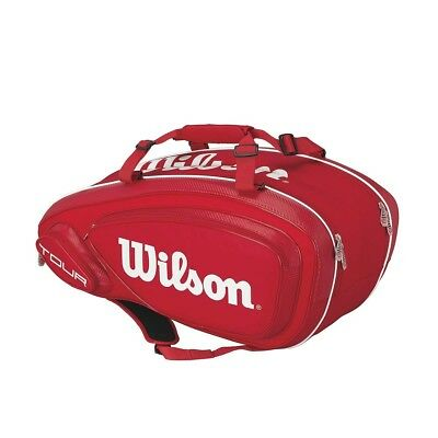 Wilson Tour V 9 Pack Tennis Racquet Bag Red