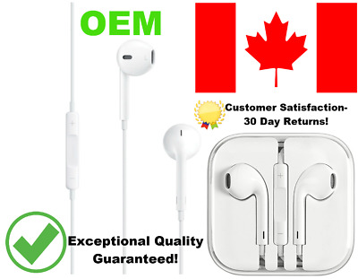 Earphones Earbuds for Apple 4,5,6 Headphones With Mic and volume -OEM QUALITY-