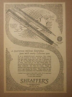 1926 Sheaffer's Pen and Pencil Ad White Dot