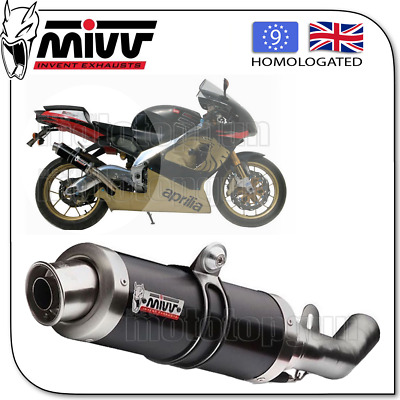 Mivv Approved Silencer Gp Steel Black Aprilia Rsv 1000 2001 01 2002 02 2003 03