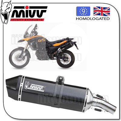 Mivv Approved Exhaust Kat Speededge Steel Black Carbon Cup Bmw F 800 Gs 2009 09