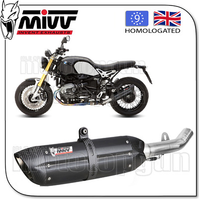 Mivv Approved Exhaust Kat Suono Steel Black Carbon Cup Bmw Rnine-T 2016 16