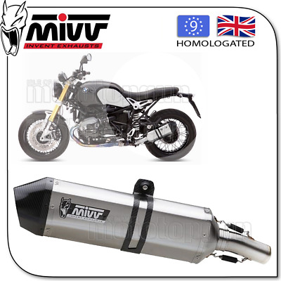 Mivv Approved Silencer Kat Speededge Steel Carbon Cup Bmw Rnine-T 2016 16