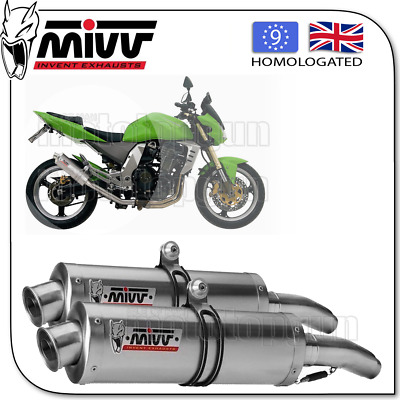 Mivv Approved Silencer Kat Oval Steel Kawasaki Z-1000 2006 06
