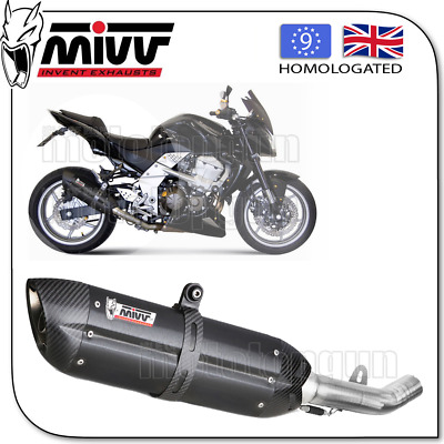 Mivv Approved Silencer Suono Steel Black Carbon Cup Kawasaki Z-750 2007 07