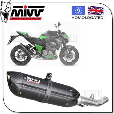 Mivv Approved Silencer Kat Suono Steel Black Carbon Cup Kawasaki Z800 2015 15