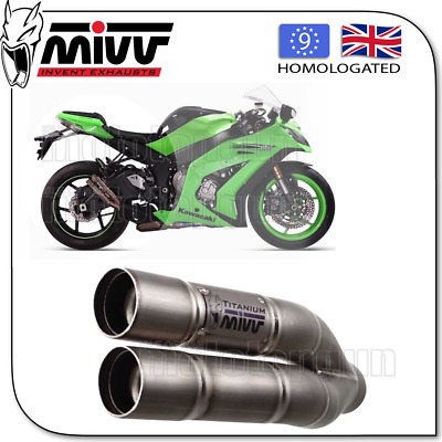Mivv Approved Exhaust Kat Double Gun Full Titanium Kawasaki Zx10 R 2012 12