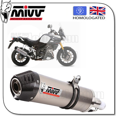 Mivv Approved Exhaust Kat Oval Titanium Carbon Cup Suzuki Dl Vstrom 1000 2015 15